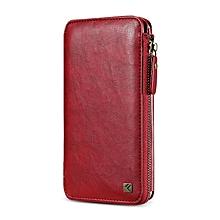 Floveme Zipper Wallet Card Slots Case For iPhone 6 6s