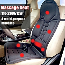2 IN 1 8 Motor Massaging Back Massage Seat Pad Home Car Massager Chair Cushion