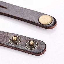Fohting  CCQ Fashion Leather Alloy World Map Globe Analog Quartz Retro Wrist Watch -Coffe
