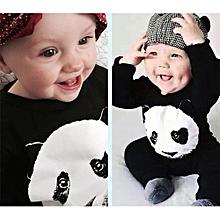 Fashion  Boy's Cotton Joint Explosive Payment Panda Kazakhstan Cartoon Long Sleeved Climbing Suit