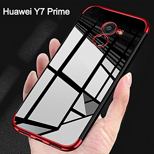 For Huawei Y7 Prime 2017 Soft Case Transparent Plating Shining Cover For  Huawei Y7 Prime Casing Antioxidant Housing