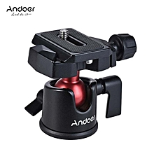 Andoer Mini Ball Head Ballhead Tabletop Tripod Stand Adapter Panoramic Photography Head with Quick Release Plate for  Nikon Sony DSLR Mirrorless Camera Camcorder