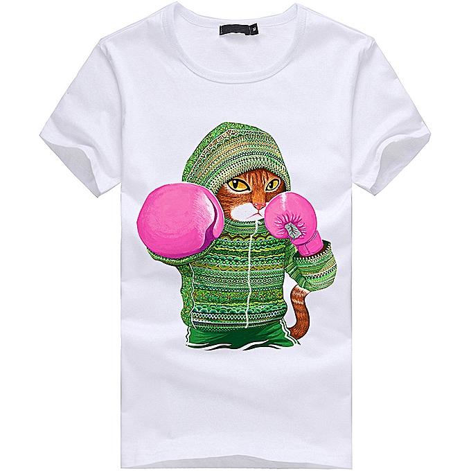 639e1237747b jiahsyc store Men Boy Plus Size Animal Print Tees Short Sleeve Cotton T  Shirt Blouse Tops