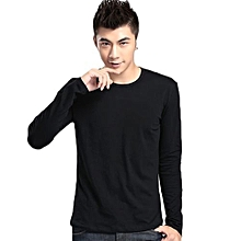 Tanson  Spring And Autumn Men's Long-sleeved T-shirt Slim Round Neck Men's Shirt Solid Color Shirt