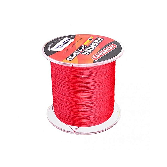 Super strong 300m 30lb pe braided lines sea fishing for Red fishing line