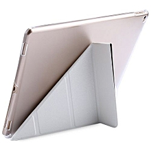 Ultra Slim Leather Wake Sleep Smart Multi-folds Cover Hard Back Case With Stand Function For IPad Pro