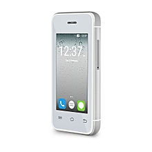 MELROSE S9 2.4 inch Androrid 4.4 Ulta-thin Mini 3G Smart Phone MT6580 Dual Core 1.2GHz 512MB RAM 8GB ROM Bluetooth Camera WiFi ( EU Plug ) SILVER BUILT-IN 16GB TF CARD