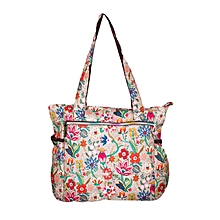 Multicolor Waterproof Floral Diaper Bag With Pouch