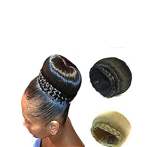 Donut Hair Bun Hair Extension - Black+ FREE gift Inside!!!