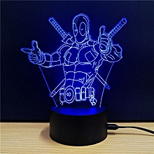 TD112 Creative Superhero 4D LED Lamp - Blue