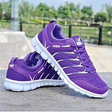 New ladies sneakers purple mesh shoes