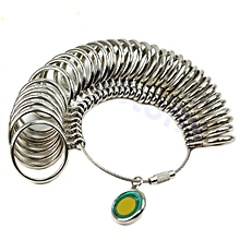 1pc Standard Jewelry Tool Size Finger Ring Metal Sizer Measure Gauge Size