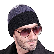 Winter Unisex Women Men Knit Ski Crochet Slouch Hat Cap Beanie Hip-Hop Hat Solid