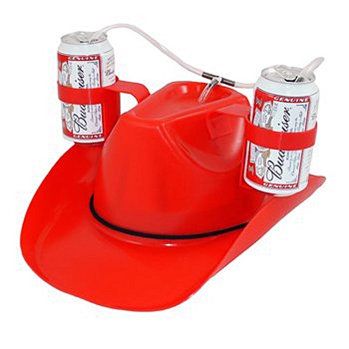 a6fee391b55 ... IPRee® Lazy Beverage Helmet Drinking Beer Cola Coke Soda Cowboy Hat  Lounge Straw Cap Camping ...