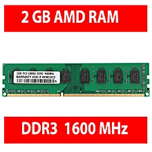 2GB DDR3 1600MHz 240PIN AMD Desktop DIMM Memory RAM PC3 12800 For Computers