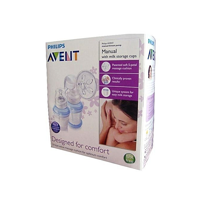 Philips AVENT Manual Breast Pump+ FREE reusable cups   Best Price ... 5fb42820d6919