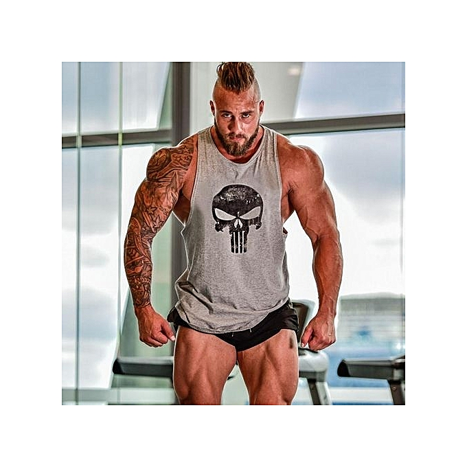 8c3e4f1530ac8 Grey Men Tops Tees Vest Muscle Guys Bodybuilding Underwaist Stringer Tank  Tops Summer Mens Fitness Workout Singlet Plus Size (China Size)
