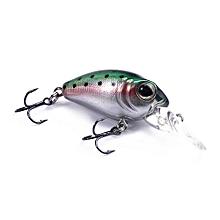 DW40 32mm Trulinoya Bare King Mini Fishing Lure Hard Bait With Hook Fishing Gear-GREEN