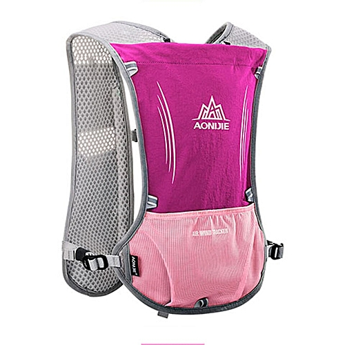 6540550249 AONIJIE 5L Women Men Lightweight Running Backpack Outdoor Sports Trail  Racing Marathon Hiking Fitness Bag Hydration Vest Pack(Rose red)