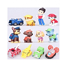 12Pcs Paw Patrol Snow Slide Anime Action Figure Model Toy