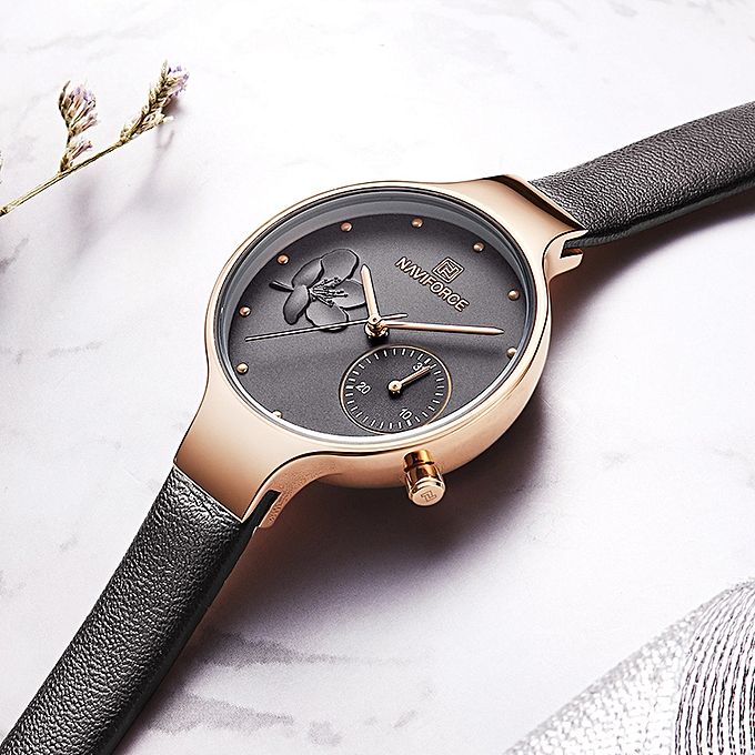 d9273caccc9 ... NAVIFORCE Women Watches Top Brand Luxury Fashion Female Quartz Wrist  Watch Ladies Leather Waterproof Clock Girl ...