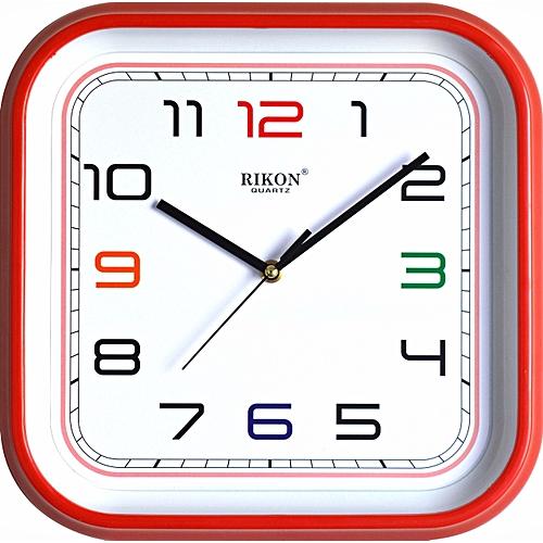 Buy Quartz Wall Clock Red Frame Square At Best Price Jumia Kenya