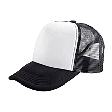 New Arrival Adjustable Child Solid Casual Hats For New Classic Trucker Summer Kids Baseball Golf Mesh Cap Sun Hats(Black&White)