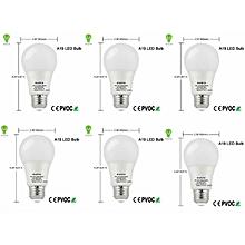 9W-  Screw Type LED Bulb 6pack - White