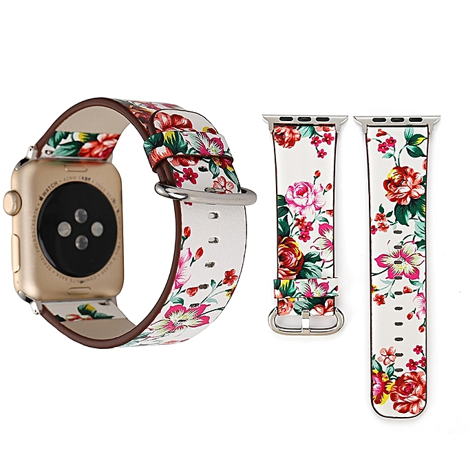 For Apple Watch Series 3   2   1 38mm Fashion Pastoralism Style Little  Floral Pattern ba1d0d1fc