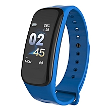 Smart Bracelet Blood Pressure Heart Rate Sleep Monitors Tracker Wristband blue
