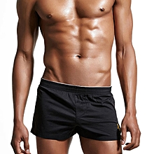 Mens Low Rise Sexy Embroidery Pattern Boxers Sleepwear Home Casual Shorts