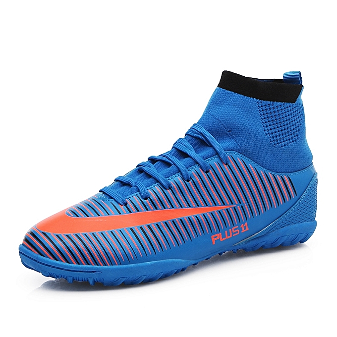 27e1b260a500 Men s High Ankle Turf Indoor Futsal Shoes Soccer Cleats Outdoor Football  Shoes Boots