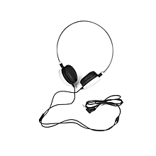 W3 Stereo Wired 3.5MM Headset Headphones - White