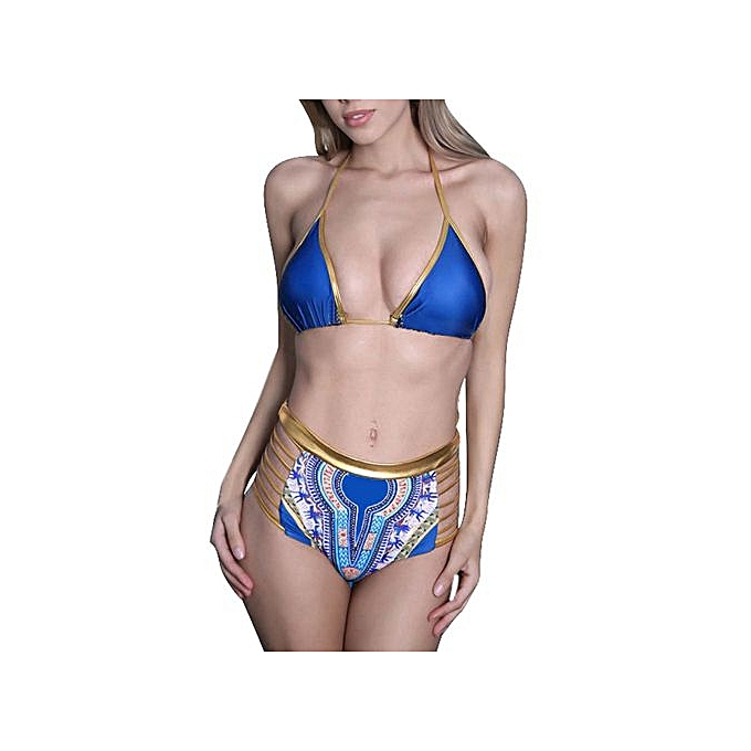 552baa58a5b4a Xingbiaocao Women Bandage Bikini Set Push Push-up Bra Swimsuit Bathing  Beachwear -Blue ...