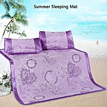 Ice Silk Cooling Summer Sleeping Mat Foldable Three Piece Mats 180*200cm