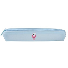 Candy-colored Long Strip Silicone Pen Case Cosmetic Makeup Storage Bag