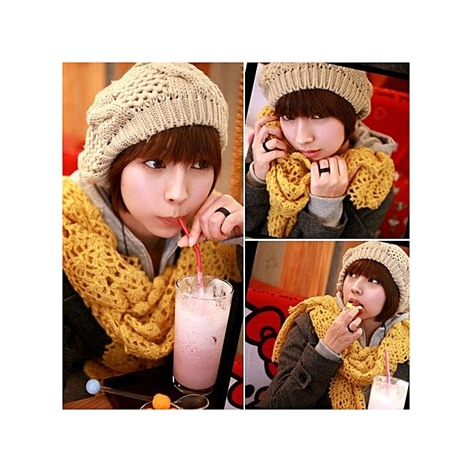 Eissely New Warm Winter Women Ladies Beret Braided Baggy Beanie Hat ... 74e1071343