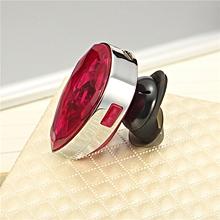 Mini ear diamond jewel Bluetooth headset universal-pink