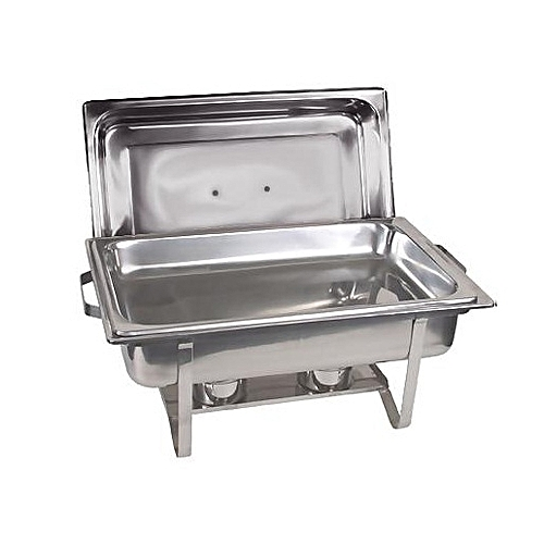 Pleasant Stainless Steel Chafing Buffet Food Warmer Serving Dish Set With 1 Single Food Pan 2 Fuel Holders Silver Interior Design Ideas Apansoteloinfo