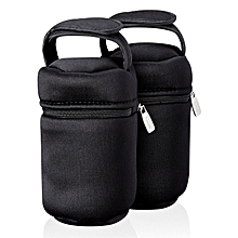Closer to Nature Insulated Bottle Bags x 2. - Black