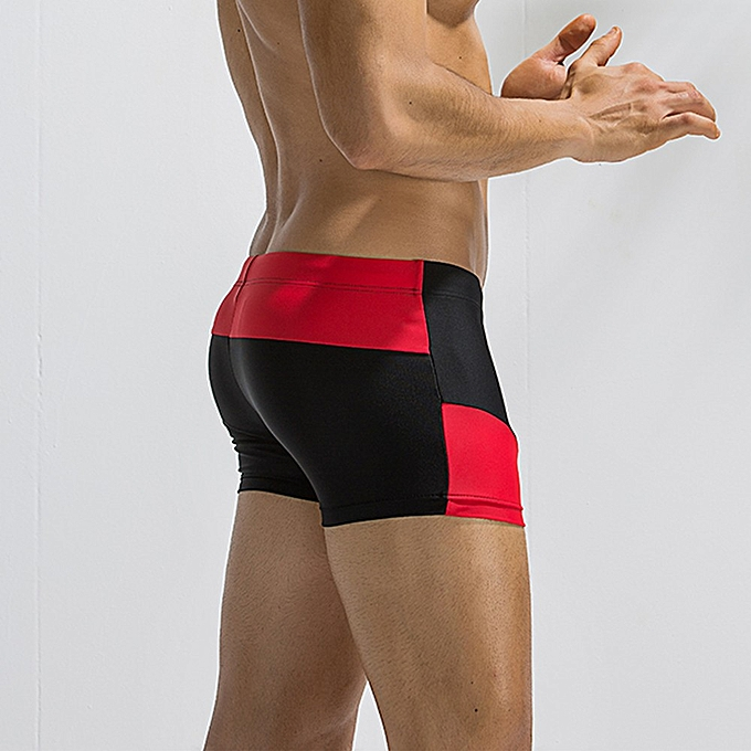 898dccbf38 douajso Mens Breathable Swim Trunks Pants Swimwear Shorts Slim Wear Bikini  Swimsuit -Black