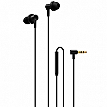 Xiaomi QTEJ03JY Hybrid Dual Drivers Earphones Wired Control Earbuds with Microphone-BLACK