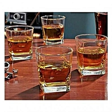 Square Drinking Glasses - 6 Pieces - Clear