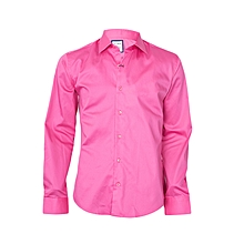 Hot Pink Shirt With A Pink Pocket Square