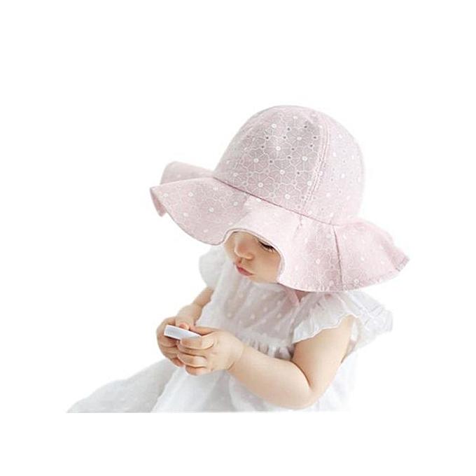 fe081b8cb Hiaojbk Store Toddler Infant Kids Sun Cap Summer Outdoor Baby Girl Boy Sun  Beach Cotton Hat PK-Pink