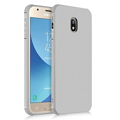 free shipping 3910c 4294d Samsung Galaxy J3 Pro 2017 Silicon Case Matte TPU Anti-knock Phone Back  Cover - Gray