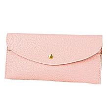 Women Candy-Colored Solid Faux Leather Long Purse-Array