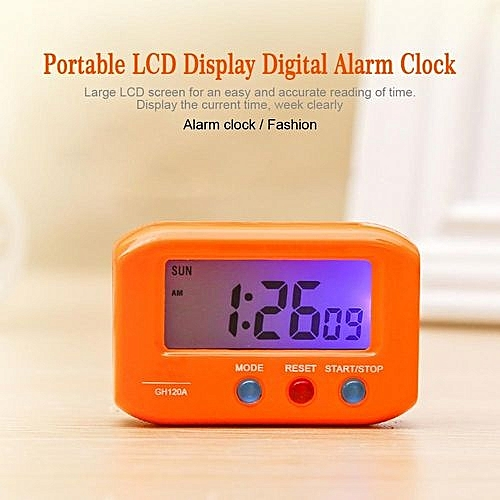 Generic Portable Tabledeskcar Lcd Display Digital Alarm Clock