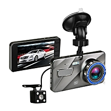 Full HD 1080P Car Dash Cam Dual Lens Vehicle DVR With Rear Camera, 170 Degree Wide Angle, Night Vision