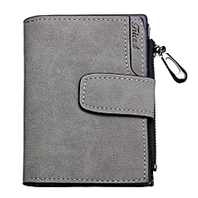 Fashion Lady Women PU Leather Clutch Wallet Short Card Holder Case Purse Handbag   Gray